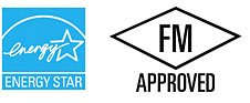 Energy Star und FM Approved Logo